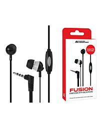 Advanced Accessories Fusion 3.5mm Earphones with Microphone-Black