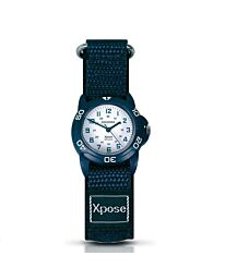 Sekonda Xpose Children Boy Girl Sports Velcro Strap watch White/Blue 3205