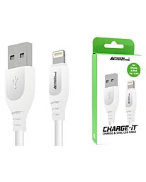 Advanced Accessories  CHARGE-IT (1M) 8 Pin USB Data Cable for Apple Lightning devices - 1 Meter-White