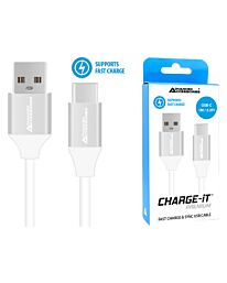 Advanced Accessories Charge IT Premium USB C Cable 1M White