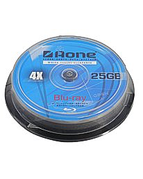 Aone 4x White Printable 25GB BD-R (10 Tub)