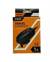 Speedy Mains Travel Charger 1 Amps USB Type-C