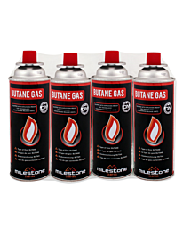 Milestone Camping 4 Pack CRV Gas Canisters 15200