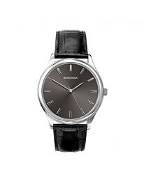 Sekonda Men's Grey Dial Analogue Leather Strap Watch 1533