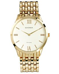 Sekonda Men's Fashion Gold Bracelet Watch 1610