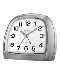 Acctim 14697 Bentima Sensa-Light 3 Non-Tick Night Display Alarm Clock, Plastic, Silver