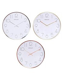HENLEY Large Contemporary Dome Wall Clock - HCW002