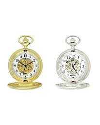 Ravel Polished Mechanical Pocket Watch Silver/Gold R1001.16 R1001.17
