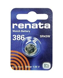 Renata 386 Watch Battery (10 Pack)