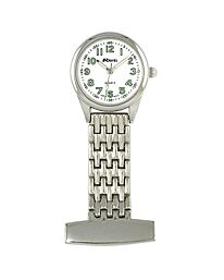 Ravel Polished Chrome Nurses Fob Watch R1101.02