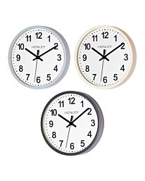 Henley 25cm Kitchen Wall Clock - Ivory/Blue/Grey HCW007