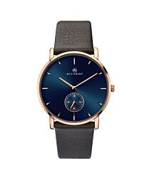 Accurist Men's Classic Dark Blue Dial with Brown Leather Strap Wristwatch 7167