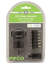Pifco 1500 mAh AC/DC Power Adapter