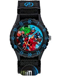 Disney Avengers Boys Analogue Quartz Watch with Textile Strap AVG5008