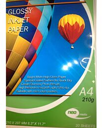 210g Gloss Inkjet Photo Paper - 25 Sheets
