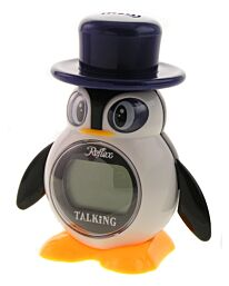 Reflex Talking Penguin Alarm Clock Large LCD Display Snooze & Chime 908-3102