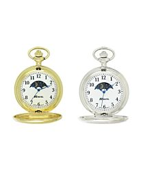 Ravel Polished Sun / Moon Pocket Watch Silver/Gold R1001.14 R1001.15