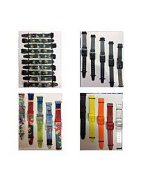 Swatch watch straps to fit Swatch watch 5pk black Multicoloured