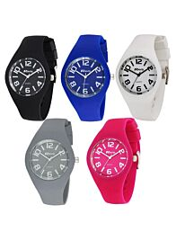 Ravel Unisex Small Dial Summer Days Silicon Watch R1801