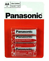 Panasonic AA Size Zinc Carbon Batteries AAR6