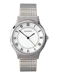 Sekonda Men's Silver Expandable Bracelet Watch 3022B