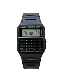 Casio Men Digital Calculator Black Dial Rubber Strap Watch CA-53W-1Z