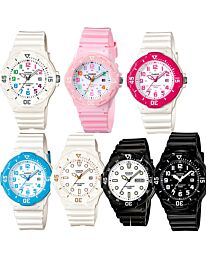 Casio Women's Resin Strap Coloured Dial Casual Sports Watch LRW-200H