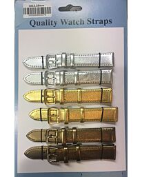 Watch Straps Metallic Colours Silver/Gold/Bronze 1012.01