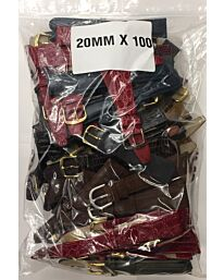 100PCS ASSORTED STRAPS IN ONE SIZE