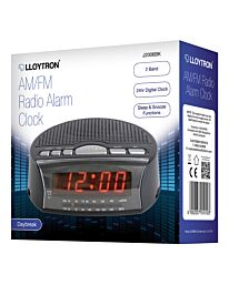 'Daybreak' Alarm Clock Radio - Black