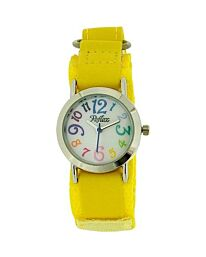 Reflex Boys Girls Kids Yellow Colourful Velcro Fabric Strap Watch KID-0077