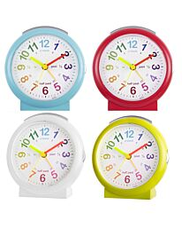 Acctim Lulu Time Teaching Bold Sweeping Seconds Alarm Clock