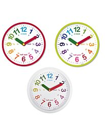 Acctim 'LuLu' 26cm Green/Red/White Time teaching clock