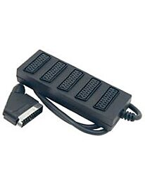 Scart plug to 5 Scart Socket Adaptor