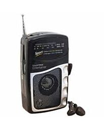 Entertainer  2 Band DC Portable Radio With Earphones