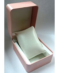 Watch Box Pink padded with padded cushion