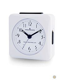 Precision Radio Controlled Analogue Table Crescendo Alarm Clock White PREC0050