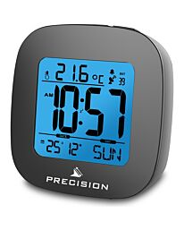 Precision Radio Controlled LCD Backlit Alarm Date Temperature Clock AP054 / PREC0115