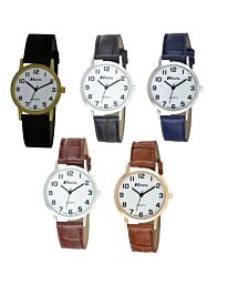 Ravel Gents Classic Black Leather Strap Watch R0102G