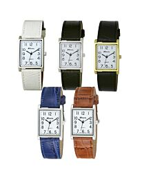Ravel Unisex Classic Strap Black/White/Blue/Brown Leather strap Watch R0120