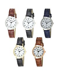 Ravel Ladies Classic Black Leather Strap Watch R0102L