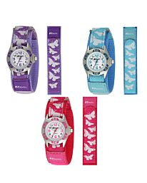 Ravel Girls Velcro Butterfly Watch R1507B