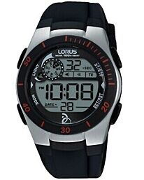Lorus Unisex Digital Day Water Resistent Rubber Strap Watch R2375KX9