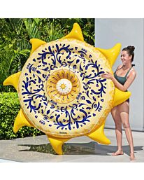 Bestway 7'5″ x 7'5″/2.26m x 2.26m Sunny Sicily Island  Float in Style