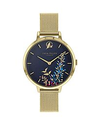Sara Miller The Wisteria Collection Gold Plated Mesh Strap Watch SA4030
