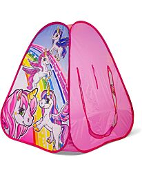 Ozbozz Unicorn Hours of Fun Playing in Your pop up Tent, Pink SV15483