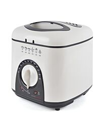 Kitchen Perfected 1.0Ltr Compact Deep Fryer - Ivory White