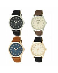 Henley Men's Contemporary One To Twelve Leather Strap Watch H02194
