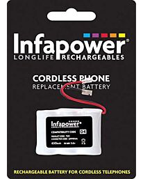 Infapower 3 x 1/2 AA Ni-Mh Rechargeable Battery for Cordless Phone (Compatibility 04) T001 (Pack of 10)