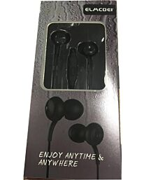 ELMCOEI Earphone Fashion and Comfortable for Iphone & Android EV136 Black